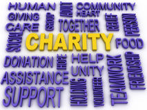 3d imagen Charity concept in word collage Royalty Free Stock Photos
