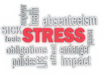 3d imagen concept of work stress. 3d imagen concept wordcloud illustration of work stress Stock Photography
