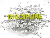 3d imagen Discipline issues concept word cloud background Stock Image