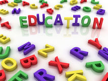 3d imagen Education concept word cloud background Royalty Free Stock Image