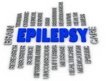 3d imagen, epilepsja symbol Neurologicznego nieładu ikony conceptua Obraz Royalty Free