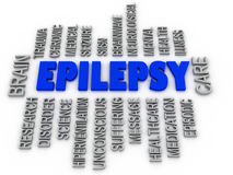 3d imagen, Epilepsy symbol. Neurological disorder icon conceptua Royalty Free Stock Image