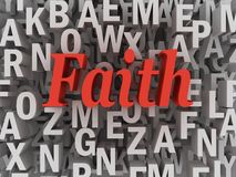 3d imagen Faith word cloud concept.  Royalty Free Stock Images