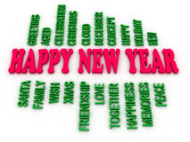 3d imagen Happy New Year Royalty Free Stock Photo