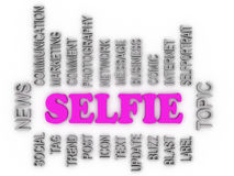 3d imagen about Selfie Topic Royalty Free Stock Image