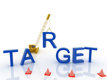 3d imagen Target concept word cloud background Stock Photography