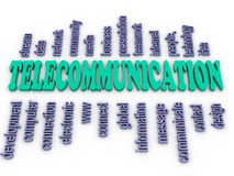 3d imagen Telecommunication. Royalty Free Stock Photography