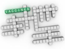3d imagen Vaccine, word cloud concept. Stock Photo