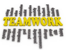 3d imagen a word cloud of teamwork Stock Photos