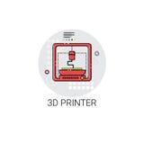 3d impresora Modern Technology Icon stock de ilustración