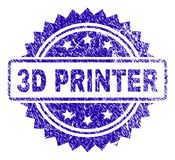 3D IMPRESORA rasguñada Stamp Seal libre illustration