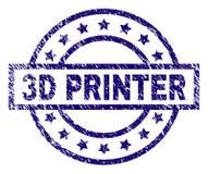 3D IMPRESORA texturizada Grunge Stamp Seal libre illustration