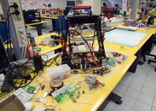 3D impressão - o FabLab científico italiano Fotografia de Stock