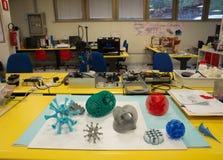 3D impressão - o FabLab científico italiano Fotos de Stock Royalty Free