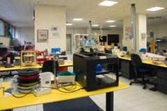 3D impressão - o FabLab científico italiano Foto de Stock Royalty Free