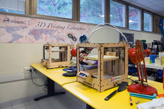 3D impression - le FabLab scientifique italien Photographie stock