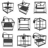 3D impressora Black Imagens de Stock Royalty Free