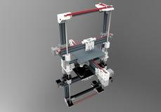 3D impressora Illustration Foto de Stock Royalty Free