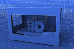 3D impressora Modern Marvel Imagens de Stock Royalty Free