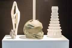 3d a imprimé des objets au hub de technologie à Milan, Italie Images stock