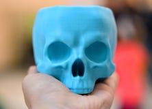 3d imprimé par crâne à disposition Photo stock