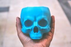 3d imprimé par crâne à disposition Images stock