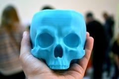 3d imprimé par crâne à disposition Image libre de droits