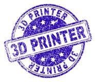 3D IMPRIMANTE texturisée grunge Stamp Seal illustration libre de droits