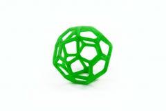 3D imprimiu o objeto dado forma esfera Fotografia de Stock