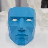 3d imprimiu o objeto no cubo da tecnologia em Milão, Itália Fotografia de Stock