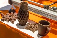 3d imprimiu objetos comestíveis no cubo da tecnologia em Milão, Itália Fotografia de Stock
