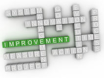 3d Improvement Concept word cloud Royalty Free Stock Photo