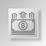 3D incentive Button Icon Concept. 3D Symbol Gray Square incentive Button Icon Concept Stock Photos