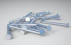 3D inchioda lo studio Fotografia Stock