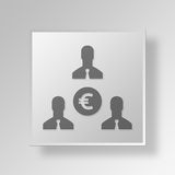 3D Income icon Business Concept Stock Image