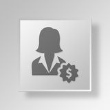 3D Income icon Business Concept Stock Photography