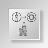 3D Income Settings Button Icon Concept Royalty Free Stock Images