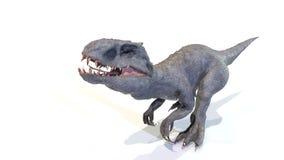 3d Indominus rex gang van backgorund, geeft terug stock fotografie