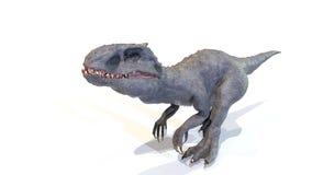 3d Indominus rex gang van backgorund, geeft terug stock afbeeldingen