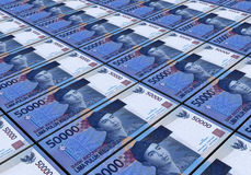 3D Indonesian rupiah. Money white background Stock Image