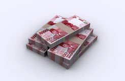 3D Indonesian rupiah Royalty Free Stock Photo
