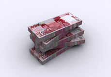 3D Indonesian rupiah Royalty Free Stock Images