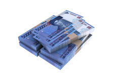 3D Indonesian rupiah money Royalty Free Stock Photos