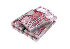 3D Indonesian rupiah money Stock Photos