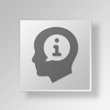 3D Info Button Icon Concept Royalty Free Stock Image