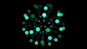 3d infographic连接球形圈自转 向量例证