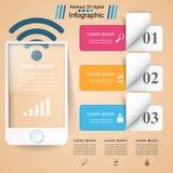 3D Infographic Ícone de Smartphone ilustração royalty free