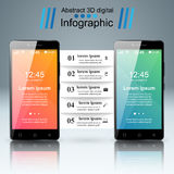 3D Infographic Икона Smartphone Стоковое Изображение RF