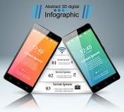 3D Infographic Икона Smartphone Стоковые Изображения RF