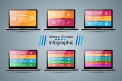 3D Infographic Икона Smartphone Стоковое Фото